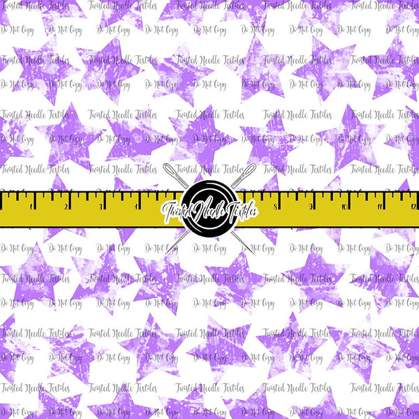 GRUNGE STARS PURPLE ON WHITE - TNT BASICS PREORDER