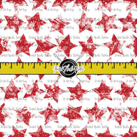 GRUNGE STARS RED ON WHITE - TNT BASICS PREORDER