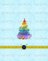 HOLIDAY TREES HAPPY HOLIGAYS PANEL - PERPETUAL PREORDER