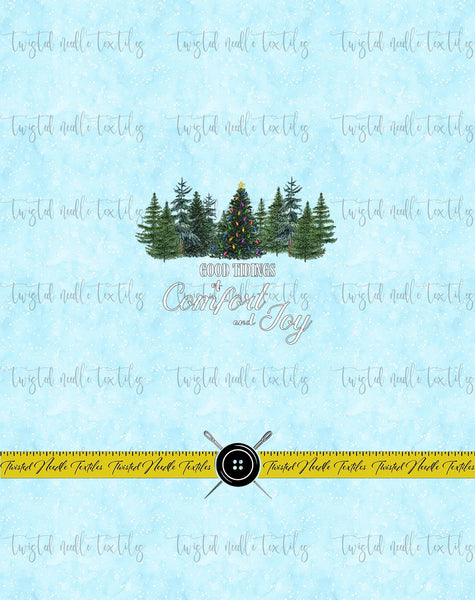 HOLIDAY TREES COMFORT AND JOY PANEL - PERPETUAL PREORDER