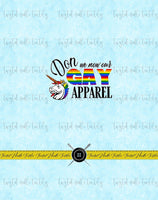 HOLIDAY TREES GAY APPAREL PANEL - PERPETUAL PREORDER