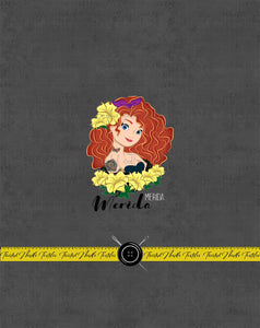 INKED PRINCESS MERIDA PANEL - TNT CUSTOM PRINTING PREORDER