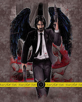 JOHN WICK ANGEL OF DEATH BLANKET PANEL - PERPETUAL PREORDER