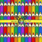 SCHOOL DAYS COLORED PENCIL ROWS - PERPETUAL PREORDER