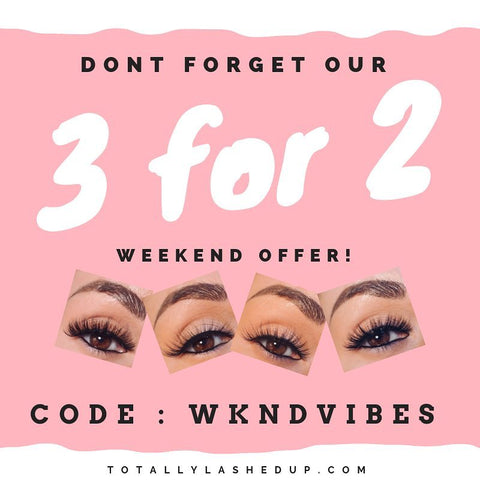 3 for 2 offer silk lashes reusable