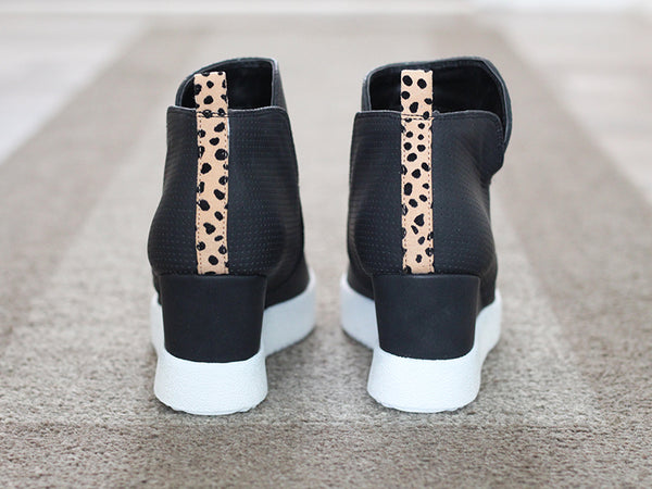 Leopard Trim Wedge Sneaker, Shoes - Trilogy Boutique