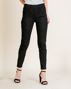 Black Moto Pants, Bottoms - Trilogy Boutique