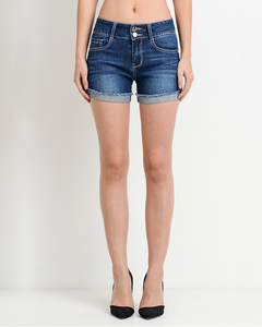 Button Denim Shorts, Bottoms - Trilogy Boutique