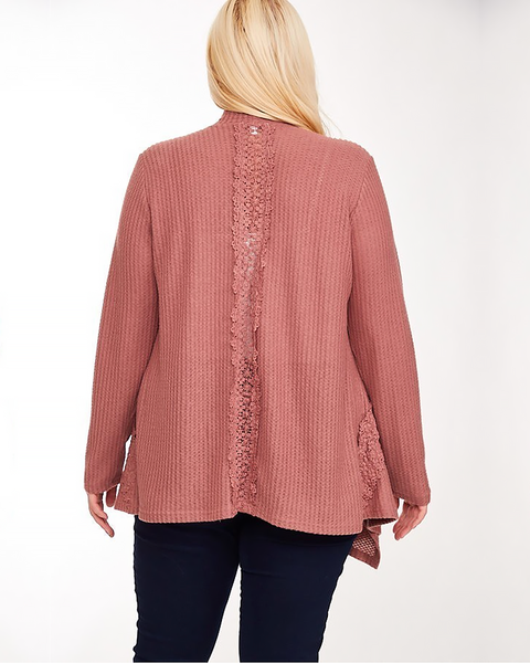 Draped Knit Cardigan, Plus - Trilogy Boutique