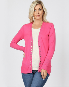 Oh Snap! Button Up Cardigan, Tops - Trilogy Boutique