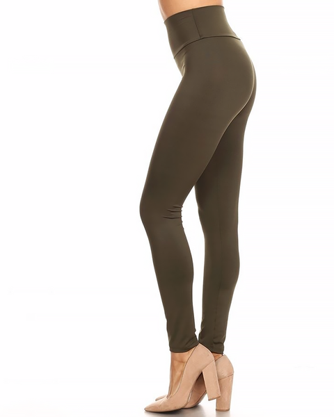 High Waisted Leggings, Bottoms - Trilogy Boutique