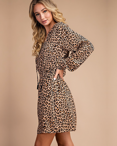 Leopard Tassel Dress, Dresses - Trilogy Boutique