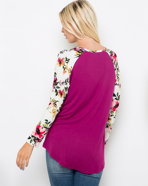 Floral Sequin Pocket Top, Tops - Trilogy Boutique
