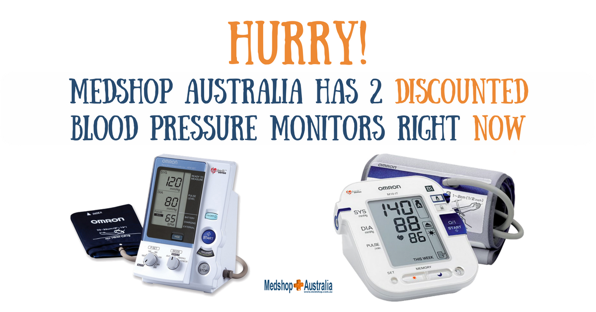 HURRY! Medshop Australia has 2 DISCOUNTED Blood Pressure Monitors RIGHT NOW.png