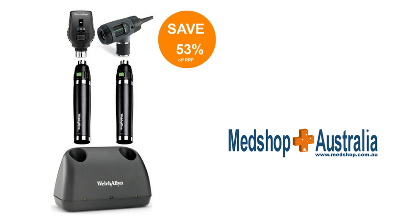 Welch Allyn Desk Set with Macroview Otoscope, Coaxial Ophthalmoscope