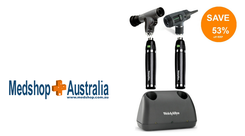 Welch Allyn Desk Set with Macroview Otoscope, Panoptic Ophthalmoscope