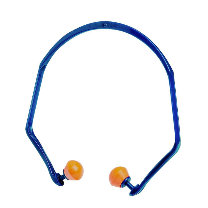 3M Healthcare Hearing Protection Banded (Under Chin) / Class 3 SLC80 18dB / Orange & Blue Banded Earplugs in Polybag 3M Banded Hearing Protection Series