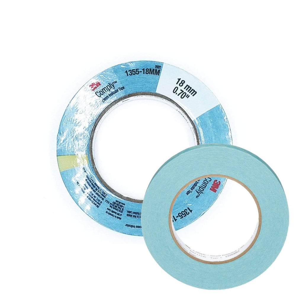 3M Healthcare Chemical Indicators Blue / 18mm x 55m 3M Comply Steam Process Indicator Tape for Disposable Synthetic Non-Woven Wraps