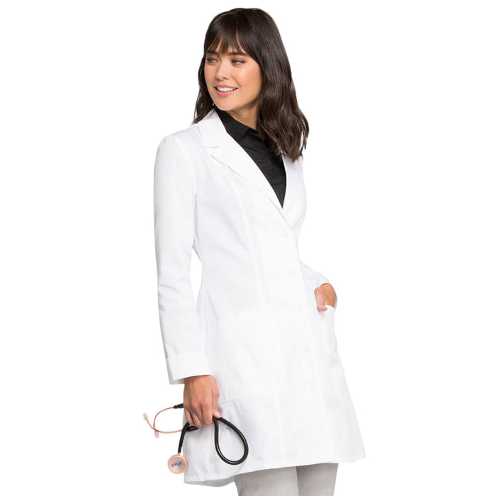 "Cherokee Lab Coats Cherokee Fashion White Lab Coat 2410 Lab Coat Women's 36"" White"