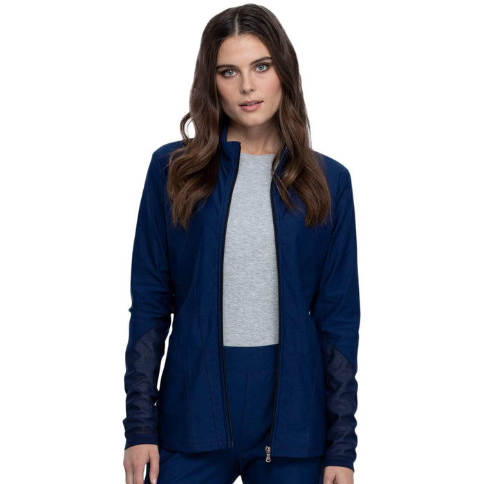 Cherokee Warm Up Jacket Cherokee Form CK390 Scrubs Warm Up Jacket Women Navy