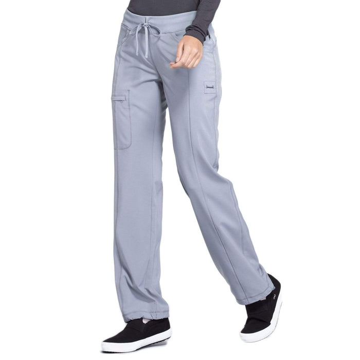 Cherokee Scrubs Pants 2XL / Regular Length Cherokee Infinity 1123A Scrubs Pants Women's Low Rise Straight Leg Drawstring Grey