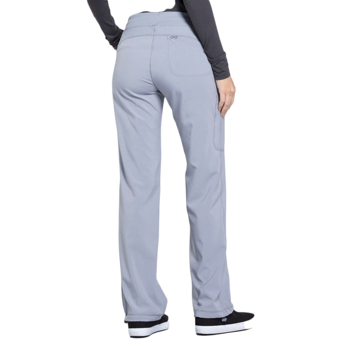 Cherokee Scrubs Pants Cherokee Infinity 1123A Scrubs Pants Women's Low Rise Straight Leg Drawstring Grey