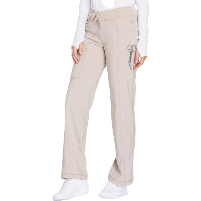 Cherokee Scrubs Pants 2XL / Regular Length Cherokee Infinity 1123A Scrubs Pants Women's Low Rise Straight Leg Drawstring Khaki