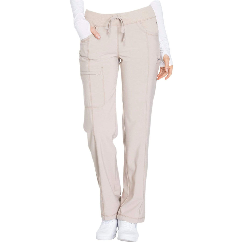 Cherokee Scrubs Pants Cherokee Infinity 1123A Scrubs Pants Women's Low Rise Straight Leg Drawstring Khaki