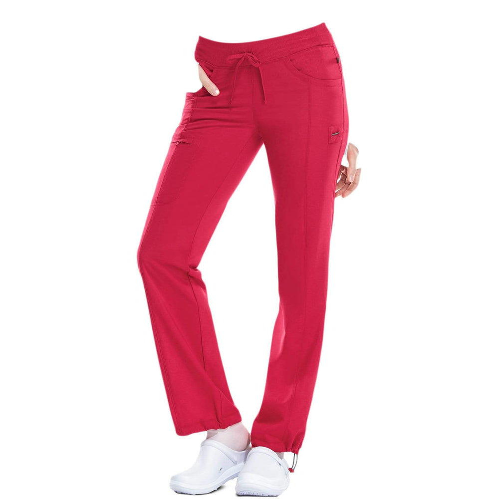 Cherokee Scrubs Pants Cherokee Infinity 1123A Scrubs Pants Women's Low Rise Straight Leg Drawstring Red