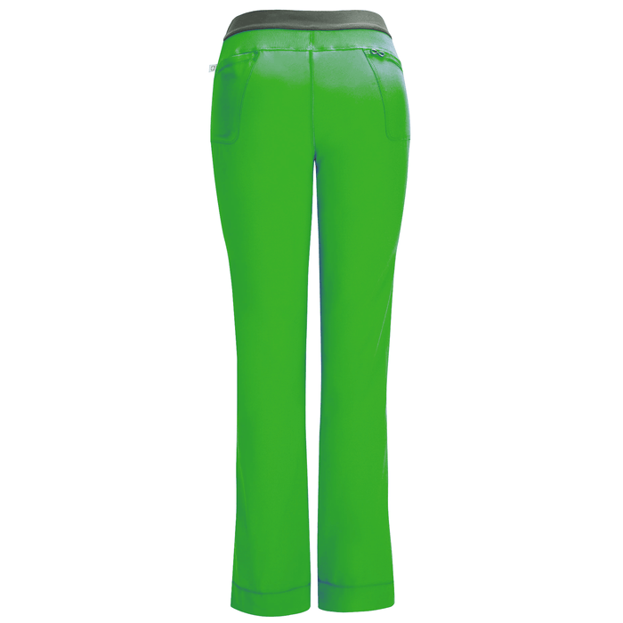 Cherokee Scrubs Pants Cherokee Infinity 1124A Scrubs Pants Women's Low Rise Slim Pull-On Hunter Green