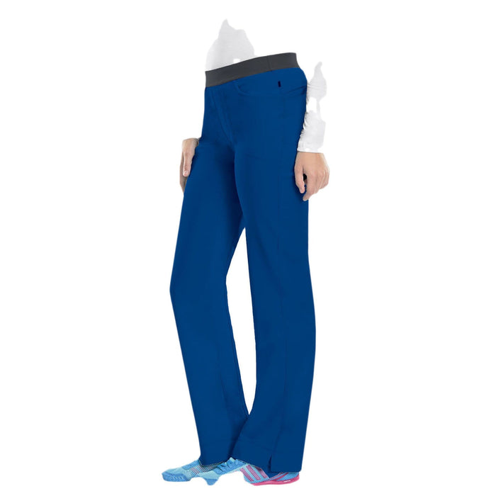 Cherokee Scrubs Pants Cherokee Infinity 1124A Scrubs Pants Women's Low Rise Slim Pull-On Royal