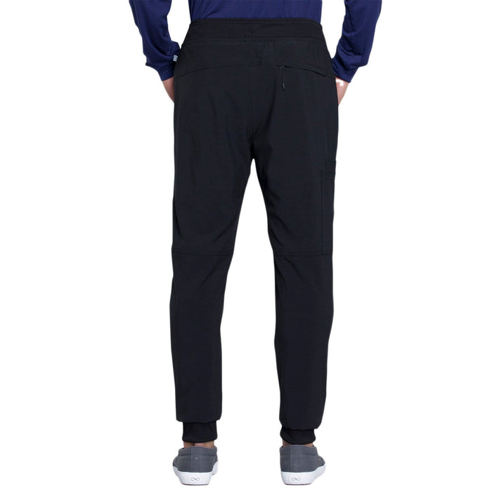 Cherokee Scrubs Pants Cherokee Infinity CK004A Scrubs Pants Men's Natural Rise Jogger Black