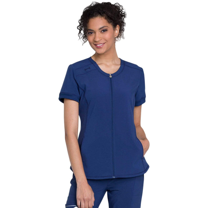 Cherokee Top 2XL Cherokee Infinity CK810A Scrubs Top Women Navy