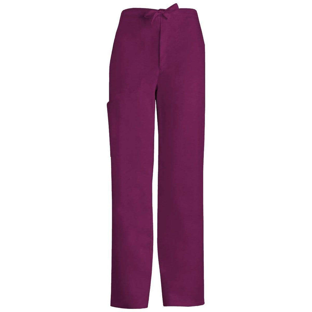 Cherokee Scrubs Pants 2XL / Regular Length Cherokee Luxe 1022 Scrubs Pants Men's Fly Front Drawstring Wine