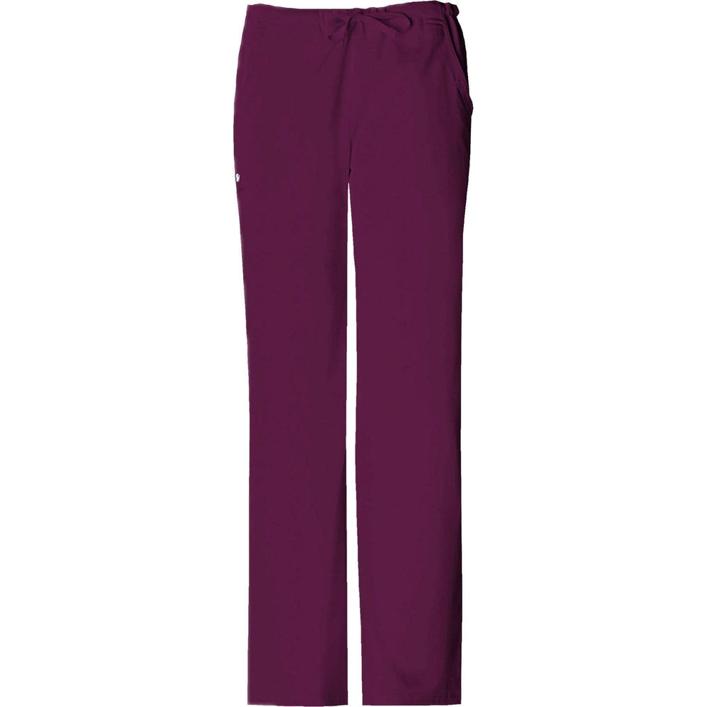 Cherokee Scrubs Pants 2XL / Regular Length Cherokee Luxe 1066 Scrubs Pants Women's Low Rise Straight Leg Drawstring Wine