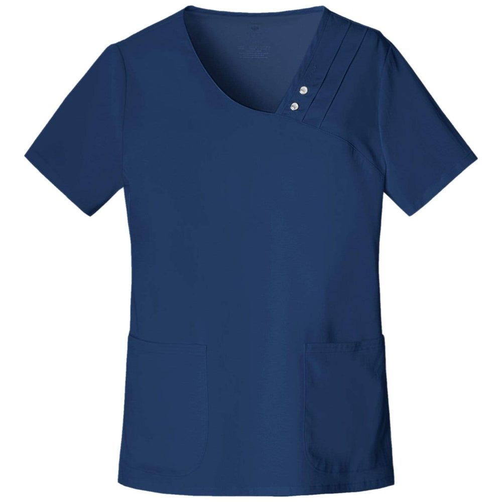 Cherokee Scrubs Top 2XL Cherokee Luxe 1999 Scrubs Top Women's Crossover V-Neck Pin-Tuck Navy