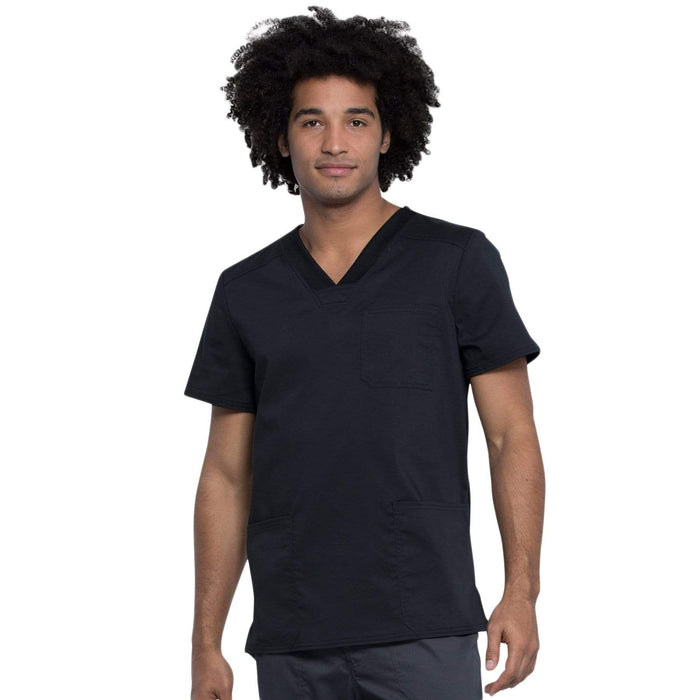 Cherokee Top 3XL Cherokee Revolution Tech Mens WW760AB Scrubs Top Men Black