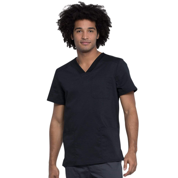 Cherokee Top 2XL Cherokee Revolution Tech Mens WW760AB Scrubs Top Men Black