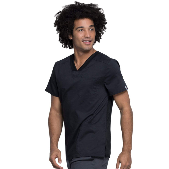 Cherokee Top Cherokee Revolution Tech Mens WW760AB Scrubs Top Men Black