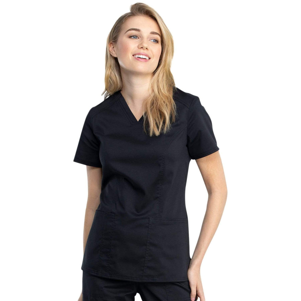 Cherokee Top 2XL Cherokee Revolution Tech WW741AB Scrubs Top Women Black