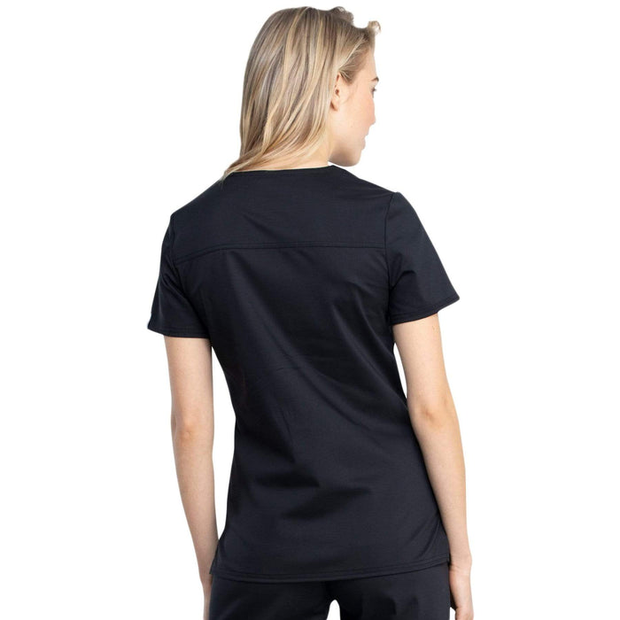Cherokee Top Cherokee Revolution Tech WW741AB Scrubs Top Women Black