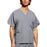 Cherokee Scrubs Top 2XL / Regular Length Cherokee Workwear 4876 Scrubs Top Unisex V-Neck Grey
