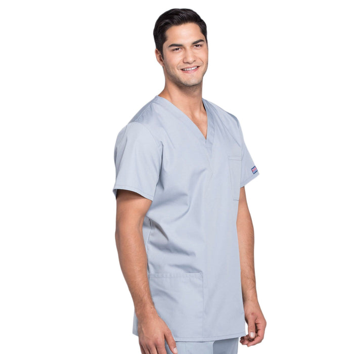 Cherokee Scrubs Top Cherokee Workwear 4876 Scrubs Top Unisex V-Neck Grey
