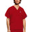 Cherokee Scrubs Top 2XL Cherokee Workwear 4876 Scrubs Top Unisex V-Neck Red