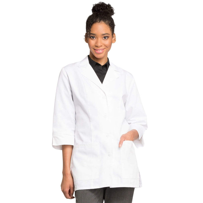 "Cherokee Lab Coat 2XL Cherokee Workwear Professionals 1470AB Lab Coat Women's 30"" 3/4 Sleeve White"