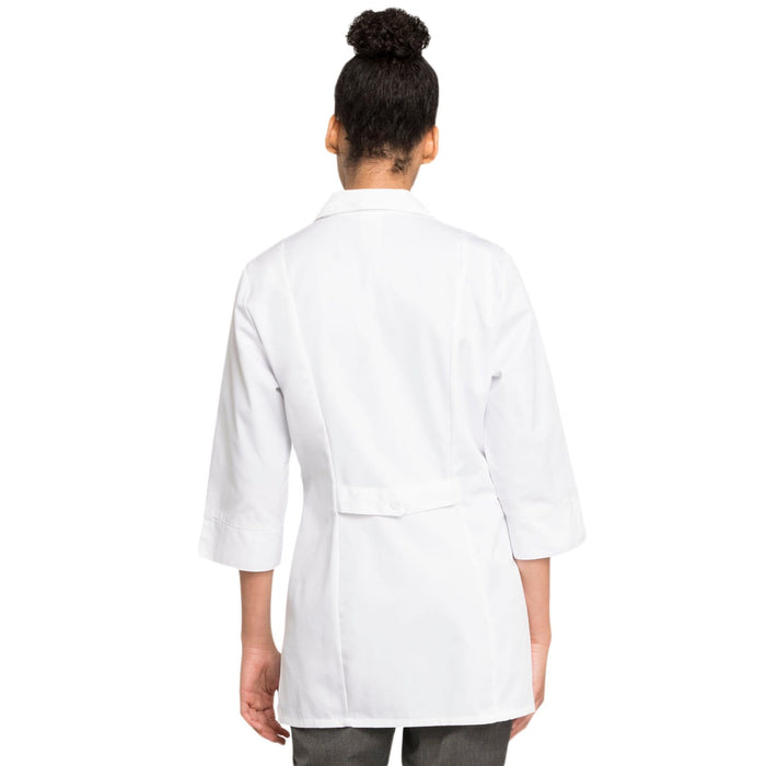 "Cherokee Lab Coats Cherokee Workwear Professionals 1470AB Lab Coat Women's 30"" 3/4 Sleeve White"