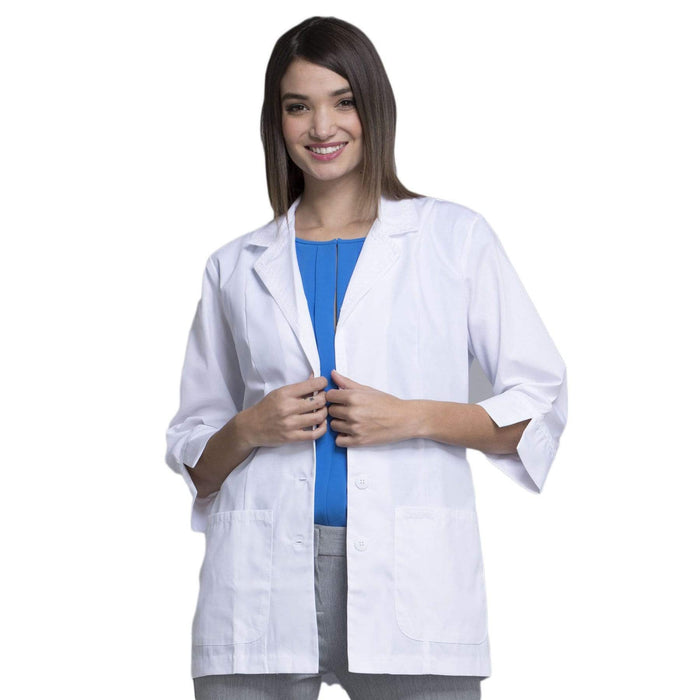 "Cherokee Lab Coats Cherokee Workwear Professionals 2330 Lab Coat Women's 29"" 3/4 Sleeve White"