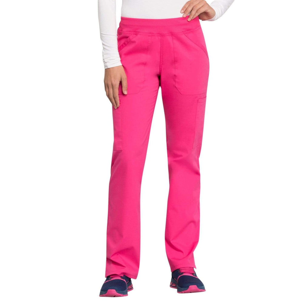 Cherokee Scrubs Pants 2XL / Regular Length Cherokee Workwear Professionals WW170 Scrubs Pants Women's Mid Rise Straight Leg Pull-on Cargo Electric Pink