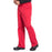 Cherokee Scrubs Pants Cherokee Workwear Professionals WW190 Scrubs Pants Men's Tapered Leg Drawstring Cargo Red