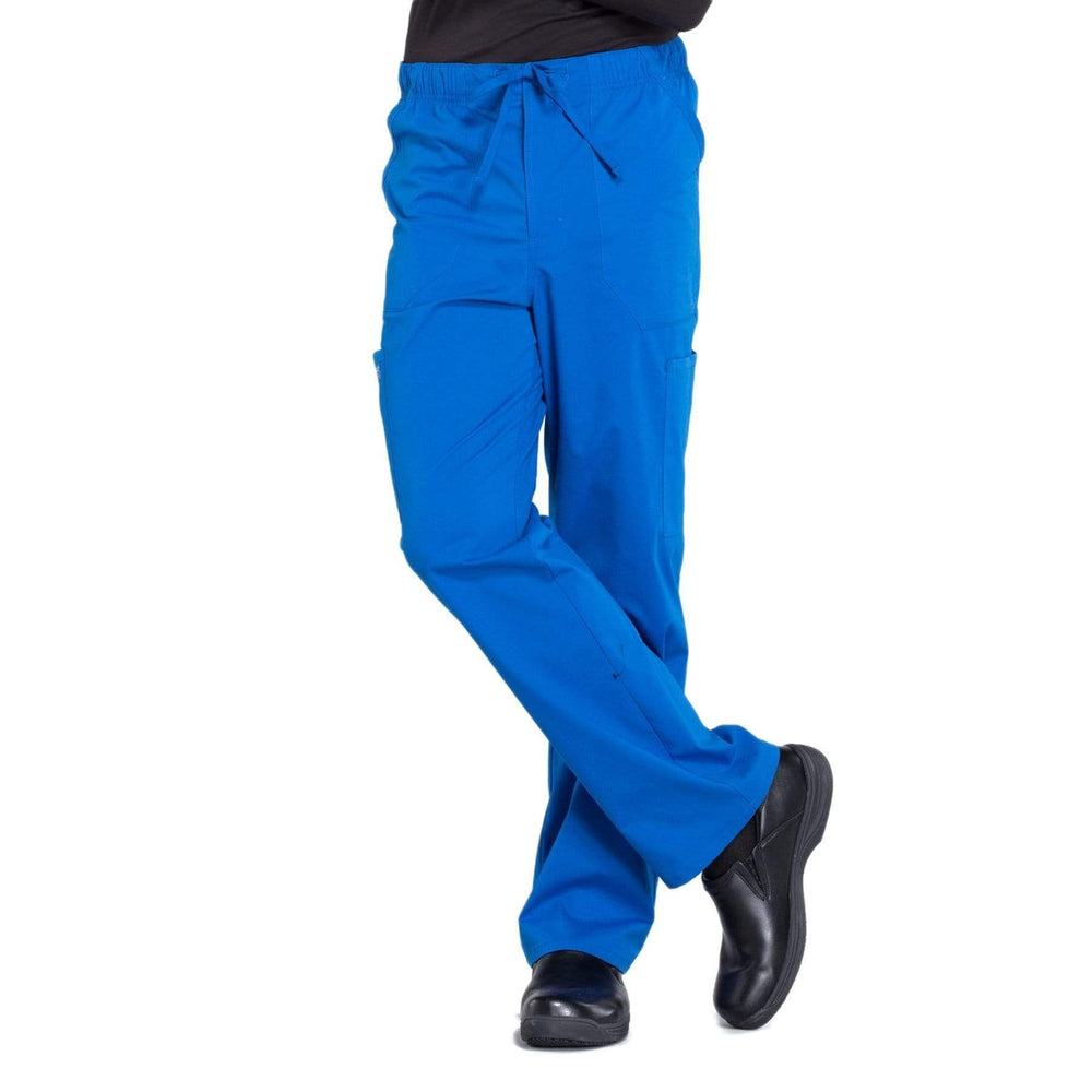 Cherokee Scrubs Pants 2XL / Regular Length Cherokee Workwear Professionals WW190 Scrubs Pants Men's Tapered Leg Drawstring Cargo Royal